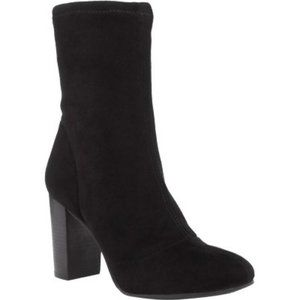 VINCE CAMUTO SENDRA BLACK STRETCH MICROSUEDE BOOT